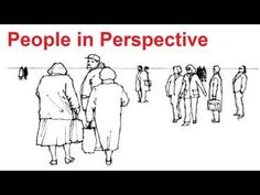 ▶ Perspective Art Lesson - How To Draw People In Perspective - Stick Figure Drawing In Perspective - YouTube