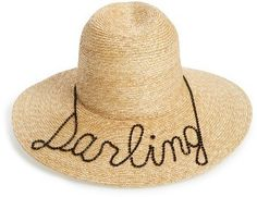 Eugenia Kim Darling Straw Hat Beige $465 At Nordstrom Darling hand-sewn black crystals https://api.shopstyle.com/action/apiVisitRetailer?id=612048476&pid=uid841-37799971-81