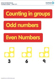 Here's a set of Numicon pages on counting in groups.