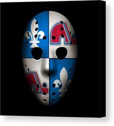 Nordiques Canvas Print featuring the photograph Quebec Nordiques by Joe Hamilton Native American Humor, Quebec Nordiques, Joe Hamilton, Goalie Mask, Canvas Art, Canvas Prints, Hockey Goalie, Hockey Stuff, Cool Masks