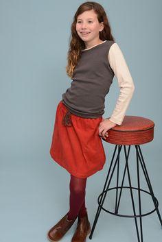 Autumn Skirt in Bittersweet | Olive Juice #girlfashion