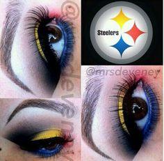 Steelers inspired makeup