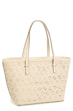 Harmony' perforated leather tote.