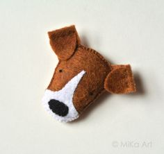 Jack Russell Terrier Felt Brooch Cute Dog Brown White Felt Pin Plush Dog Pet Softie Handmade Jewelry Fashion Felt Accessory For Dog Lovers by mikaart on Etsy https://www.etsy.com/listing/122253369/jack-russell-terrier-felt-brooch-cute
