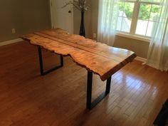 Maple Live Edge Dining Table - K. Heaton Design