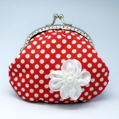 POLKA DOTS~red coin purse