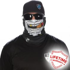 SA CO Official Gangster Face Shield, Perfect for All Outdoor Activities, Protects Face Against the Elements Soft, Breathable Polyester Microfiber Ways to Wear One Size Fits All Adults Machine Washable Tapas, Fish Mask, Motorcycle Face Mask, Fishing Outfits, Hip Hop Fashion, Mask For Kids, How To Wear, Clothes, Sun Protection