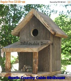 Christmas Gifts-25% OFF Flash Sale Rustic Country Cabin Birdhouse, Rustic Birdhouse, Primitive Birdhouse, , Rustic , Rus