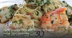 Linguine Recipes, Seafood Recipes, Dinner Recipes, Cooking Recipes, Easy Recipes, Bucatini Pasta, Prawn Pasta, Pasta Casserole, Recipe 30
