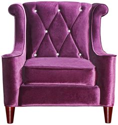 Barrister Crystal Purple Velvet Club Chair - would be so great in the master bedroom with an ottoman, mirrored side table, and maybe a chandelier