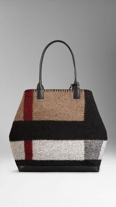 Medium Check Blanket Tote Bag | Burberry