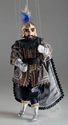 Lonely Knight Marionette- Czech Handmade by CzechMarionettes