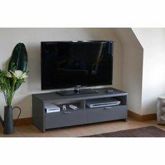 meuble tv miliboo - meuble tv design laqué noir pivotant ? | idées ... - Meuble Tv Pivotant Design