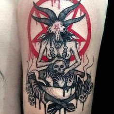 Lower Back Tattoos - Tattoo Designs Satanic Tattoos, Evil Tattoos, Creepy Tattoos, Leg Tattoos, Body Art Tattoos, Sleeve Tattoos, Tattoos For Guys, Horror Tattoos, Stomach Tattoos