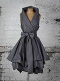Charcoal Grey Trench Dress | Blonde And Wise