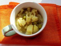 Kalafiorowa z groszkiem i curry