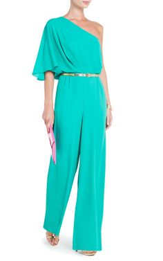 Bcbg Maxazria One Shoulder Jumpsuit Aqua [alternative to traditional evening gowns dress] - $185.00 : BCBG dresses 2013 On Sale, Cheap Herve Leger Dresses