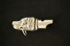 Art Deco Sterling Dog Whistle, Vintage Pendant, Late 1930s, Charm, Necklace, Key Chain