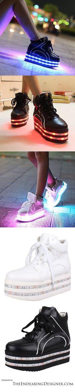 Kawaii Shoes, Creative Shoes, Light Up Shoes, Like Crazy, Platform Shoes, Color Change, Girl Fashion, Led, Colors