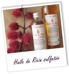 Huile de Ricin sulfatée : fiche Aroma Zone Pour préparer facilement EAU MICELLAIRE, LOTION DEMAQUILLANTE, HUILE DE BAIN non grasse....