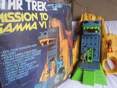 VINTAGE 1976 MEGO STAR TREK MISSION TO GAMMA VI PLAYSET IN BOX 1970'S SPACE TOY