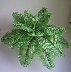 beaded fern- how to
