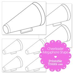 Here is a cute printable cheerleader megaphone shape so you can craft up some cheer posters or cheerleading scrapbook pages. This printable cheerleader megaphone shape is blank and has no extra Cheerleading Team Gifts, Cheerleading Megaphones, Cheer Megaphone, Football Cheer, Cheer Coaches, Cheer Gifts, Softball Gifts, Basketball Gifts, Alabama Football