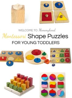 Montessori Puzzles for Babies and Toddlers: Progression
