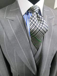 Chester Barrie grey pinstripe three piece