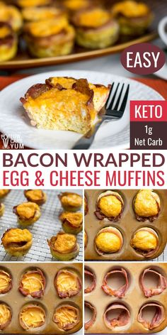 Bacon and Egg Muffin Cups are an easy keto breakfast idea. Perfect to make ahead for grab-and-go morning meals. Bacon and Egg Muffin Cups are an easy keto breakfast idea. Perfect to make ahead for grab-and-go morning meals. Low Carb Chicken Recipes, Healthy Low Carb Recipes, Low Carb Dinner Recipes, Beef Recipes, Keto Dinner, Keto Chicken, Shrimp Recipes, Pizza Recipes, Recipes