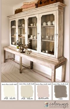 Image from http://photo.foter.com/photos/pi/244/colorways-with-leslie-stocker-country-sideboard-provides-inspiration-for-a-soft-white-annie-sloan-chalk-paint-r-color-palette-old-white-old-ochre-antoinette-coco.jpg.