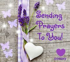 Prayers [note to self - already sent to A.L. Others may need in future] God bless you too sweet Cheryl. Ly