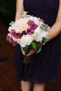 Bridesmaid Bouquet, Bridesmaid Dresses, Wedding Dresses, Shades Of Burgundy, Pacific Northwest, North West, Color Combos, Compliments, Purple