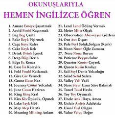 English Grammar Notes, English Sentences, English Words, English Language, English Study, English Lessons, Learn English, Turkish Lessons, Learn Turkish Language