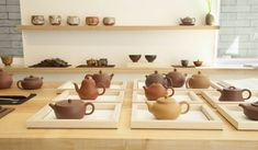 Song Tea & Ceramics: A New Tea-Tasting Room in SF - Remodelista Chinese Tea Room, Tea Room Decor, Tea Logo, Yixing Teapot, Tea Brands, Tea Service, Tasting Room, My Tea, Tea Ceremony