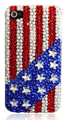 Stars and stripes rhinestone iPhone case. #onlineshopping #iPhone #blisslist Buy it on BlissList: https://itunes.apple.com/us/app/blisslist-easy-shopping-gifting/id667837070