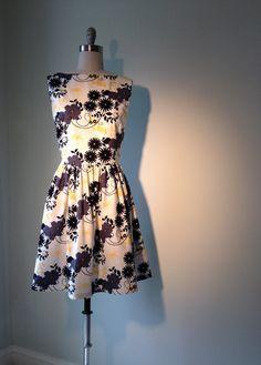 Women's Black Print Dress by allfieruth on Etsy, $59.00