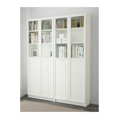 Along wall in kitchen next to pantry. BILLY / OXBERG Bookcase - white - IKEA