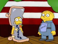 the simpsons/im idaho :) Simpsons Quotes, Simpsons Cartoon, Simpsons Characters, Cartoon Icons, Simpsons Halloween, Ralph Wiggum, Homer And Marge, Simpsons Drawings, Retro Cartoons