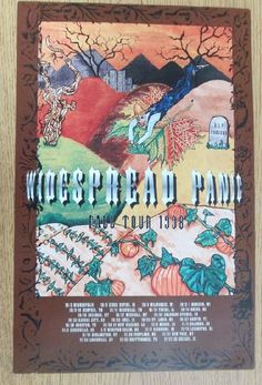 Original concert poster for Widespread Panic and their fall tour in 1998. 11 x 17 inches on card stock. Artwork by Erik Adair. Small edge tear.