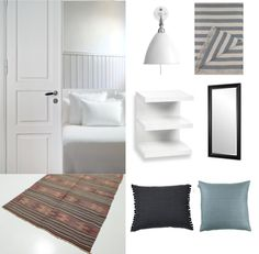 main theme white, grey and brown Main Theme, Brown And Grey, Mood Boards, Studio, Bedroom, Modern, House, Furniture, Rug