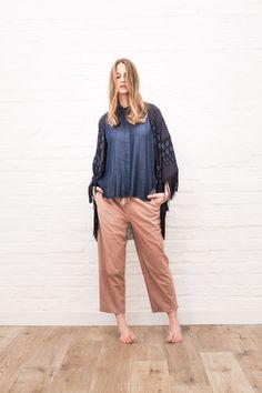 Søren Fashion Hagen  // Spring Summer 2016  #fashion #blouse #cape #pants #steffenschraut #fashionshoot #springcollection