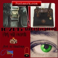 "Selling this ""BEST in HANDBAGS Party 10/21/15 @12PST or 3EST"" in my Poshmark closet! My username is: wenrella. #shopmycloset #poshmark #fashion #shopping #style #forsale #HANDBAGS #Bags"