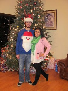 Ugly Christmas Sweater Party #uglysweater #couple #christmasparty