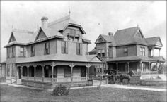 5 & 7 Greenwood Avenue inTopeka, Kansas This is a photograph showing homes at 5 & 7 Greenwood Avenue located in the community of Potwin, which is part of Topeka, Kansas. Date: Between 1890 and 1899
