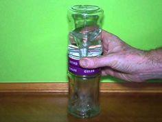 Einfacher Wasserwirbler aus 2 Marmeladengläsern