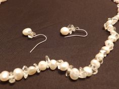 Freshwater Pearl Quartz Necklace and Earring by TheJewelryCabinet, $37.50