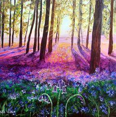'Sunset Bluebells' #Landscape #painting www.havenhouseart.com