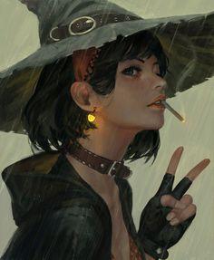 Smoking witch