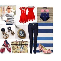 """Let's go saliling"" by glamasaurus on Polyvore"